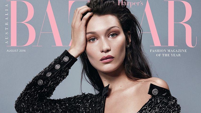 Bella Hadid auf dem Cover der amerikanischen Harper's Bazar im August 2016