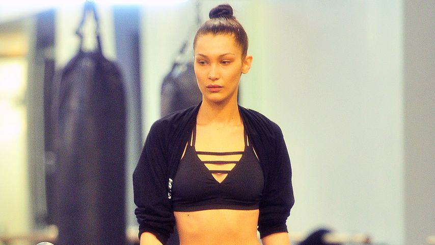 Bella Hadid im Gym in New York