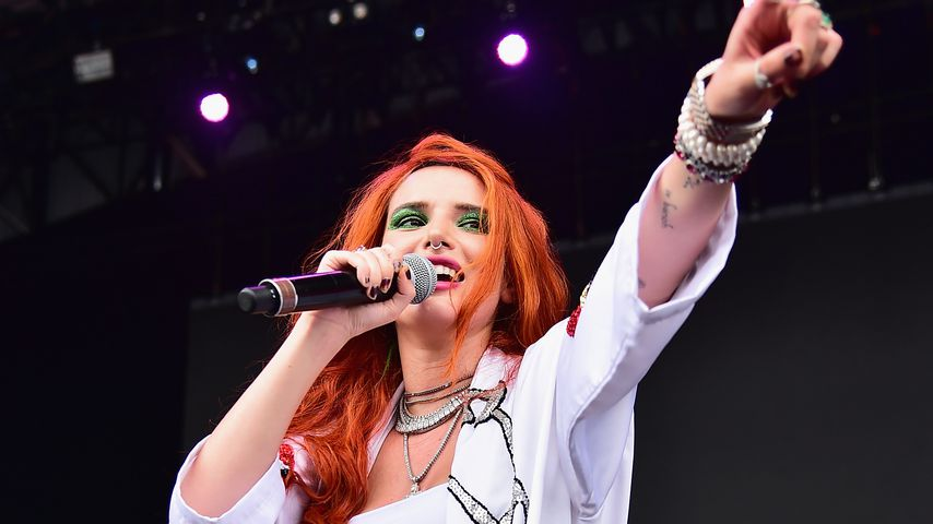Sängerin Bella Thorne bei einem Konzert in New York, August 2018