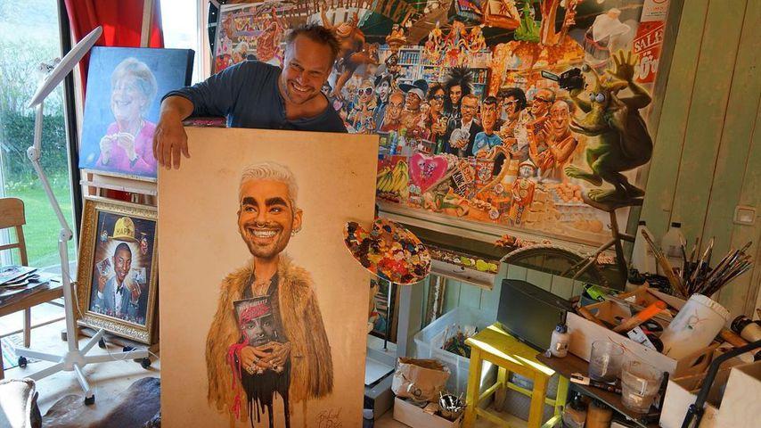 Bernhard Prinz in seinem Atelier