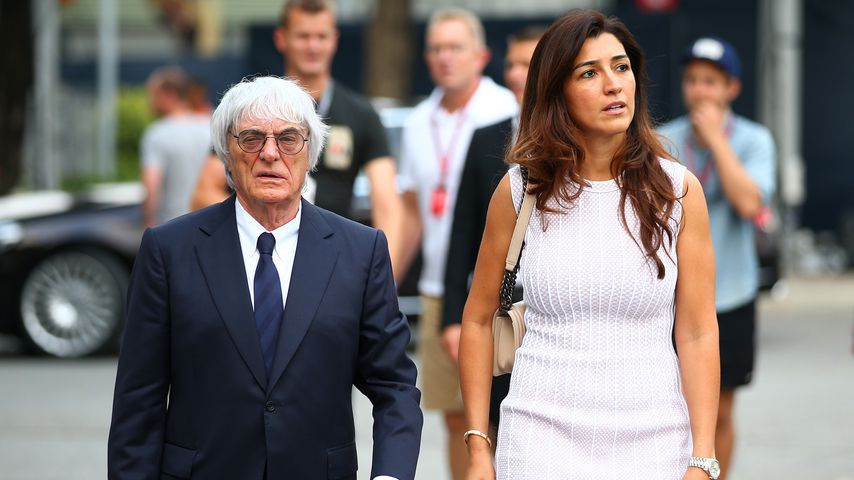 Bernie Ecclestone und seine Frau Fabiana im September 2014 in Singapur