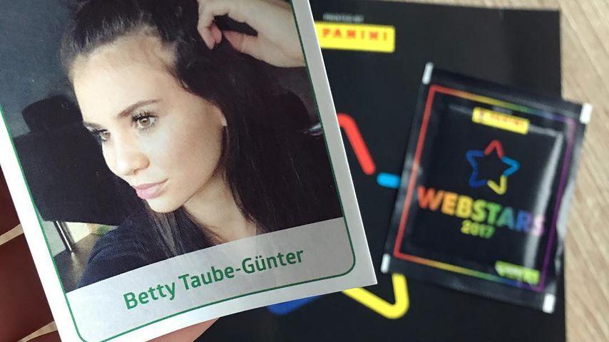 Betty Taube-Günter auf einem Panini-Sticker