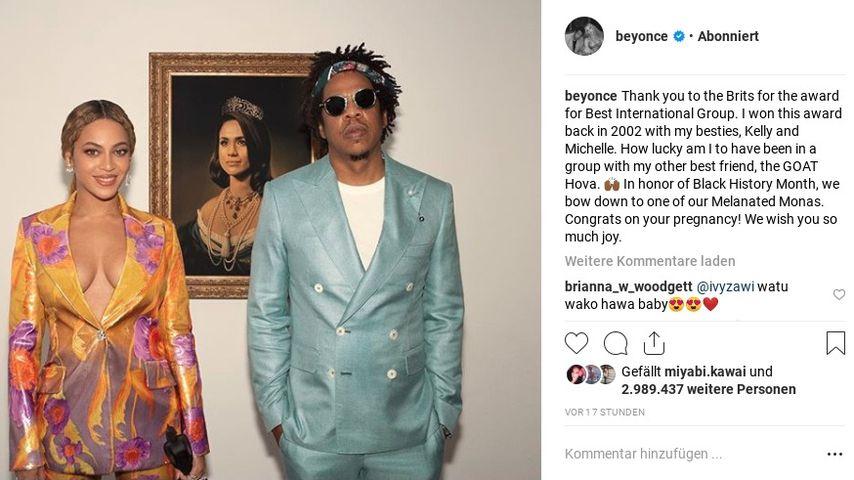 Beyoncé Instagram-Screenshot