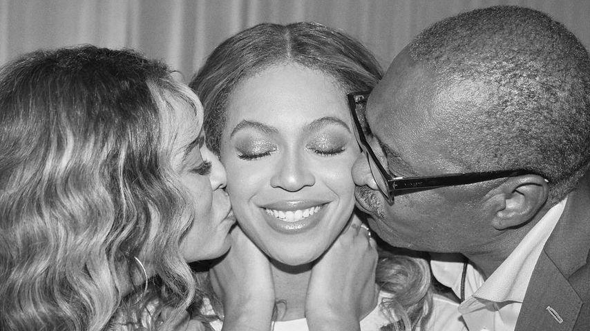 Beyoncé mit Vater Mathew und Mutter Tina nach ihrem Konzert in Seattle