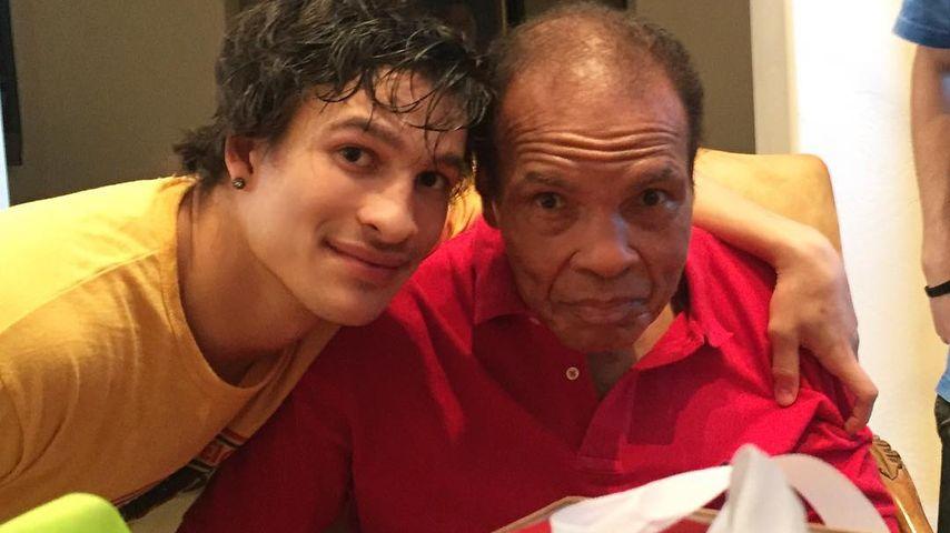 Biaggio Ali Walsh auf dem 74. Geburtstag von seinem Opa Muhammad Ali