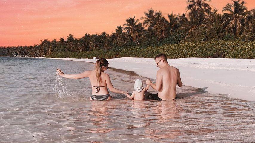 Bianca und Julian Claßen mit ihrem Sohn Lio