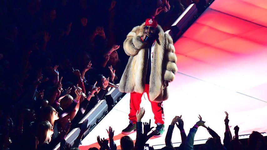 Big Boi bei seinem Auftritt während der Halbzeit des Super Bowls