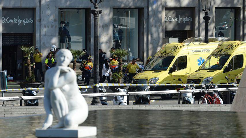 Die spanische Polizei nach dem Barcelona-Anschlag vom 17. August 2017