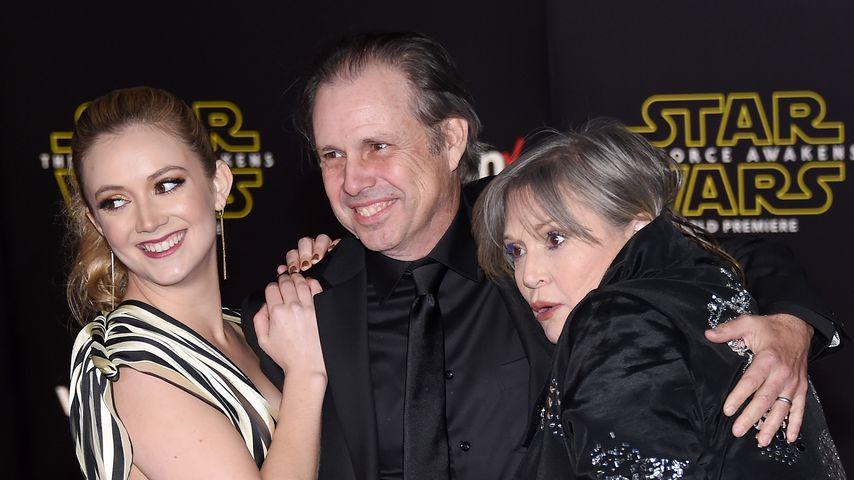 Billie Lourd, Todd Fisher & Carrie Fisher auf einer Filmpremiere