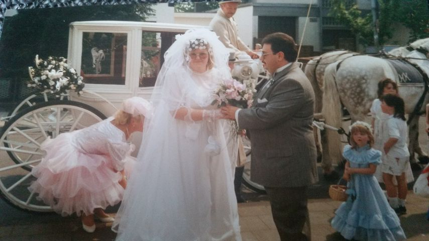 Birgit und Lutz bei ihrer Hochzeit im Mai 1989