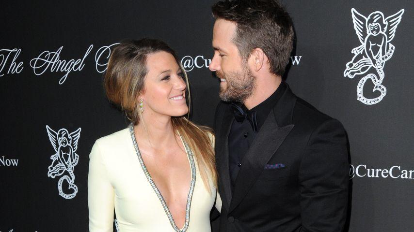 Blake Lively während ihrer ersten Schwangerschaft und zusammen mit Ehemann Ryan Reynolds