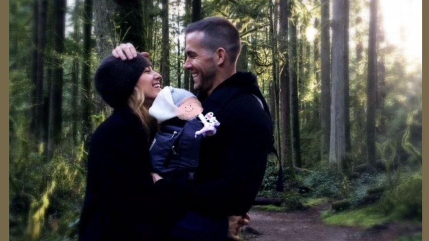 Blake Lively und Ryan Reynolds mit ihrem Baby