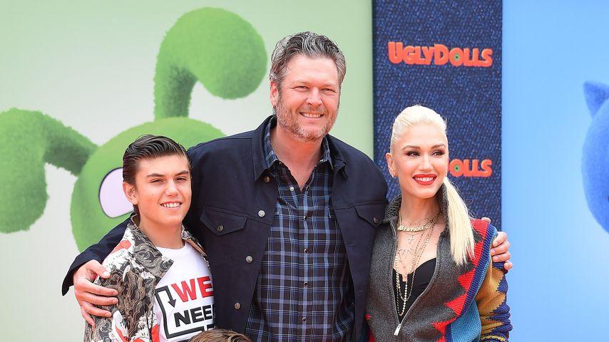 """Blake Shelton, Gwen Stefani und ihre Söhne Apollo und Kingston bei der """"Ugly Dolls""""-Premiere"""