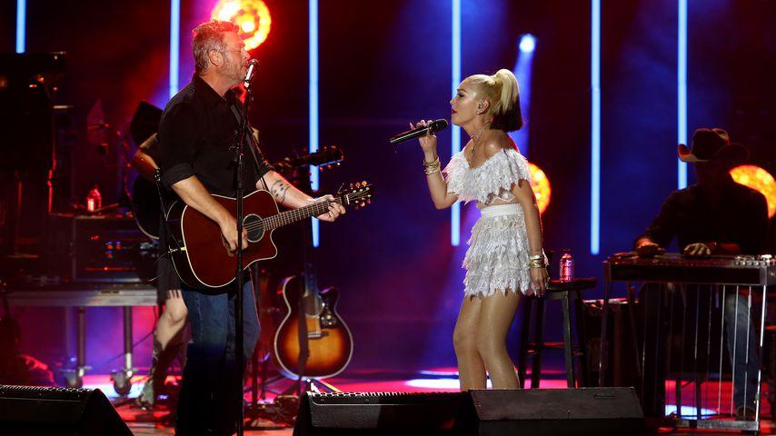 Blake Shelton und Gwen Stefani bei einem Auftritt im Juli 2021