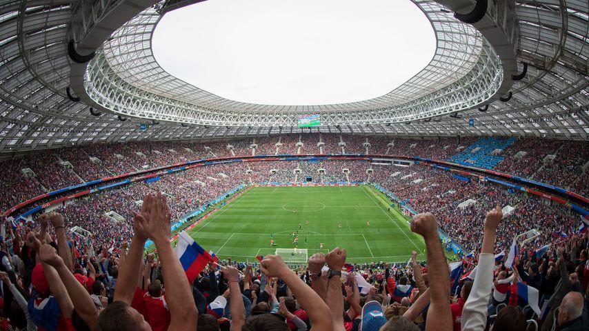 Blick ins Moskauer Luzhniki-Stadion bei der WM-Eröffnung 2018
