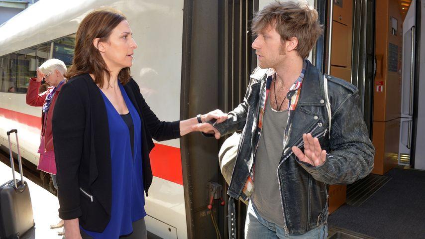 Ulrike Frank und Merlin Leonhardt in seiner vorerst letzten GZSZ-Szene 2014