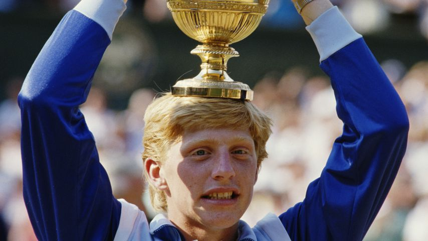 Boris Becker in Wimbledon 1985