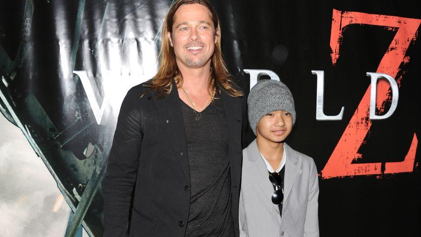Brad Pitt und Maddox Jolie-Pitt
