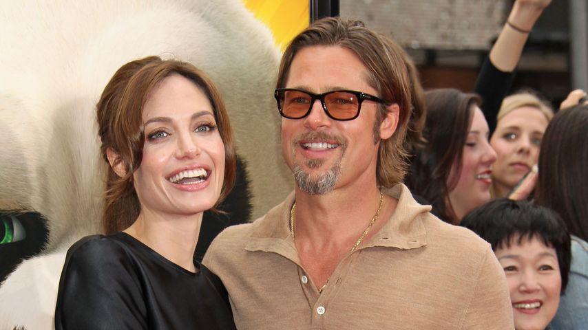 """Brad Pitt und Angelina Jolie bei der Premiere von """"Kung Fu Panda 2"""" im Jahr 2011"""