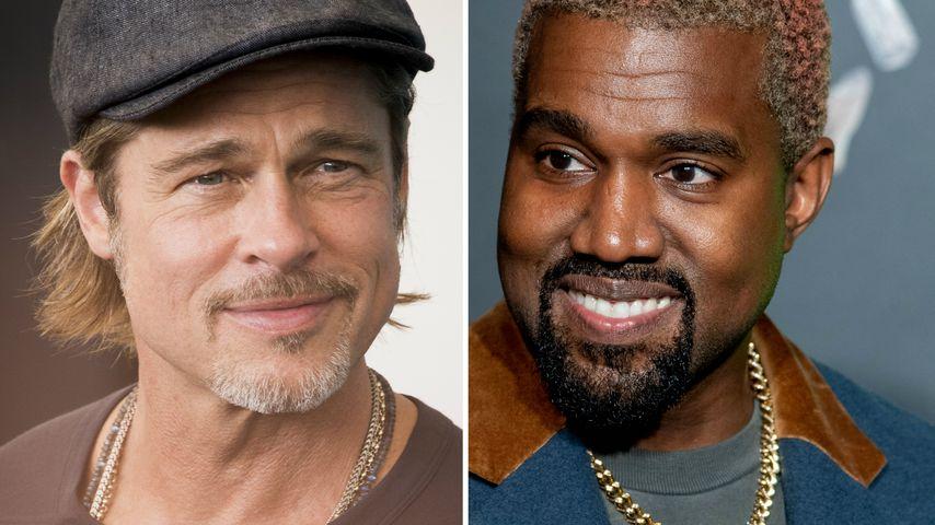 Brad Pitt verrät: So wurden aus ihm und Kanye West Freunde