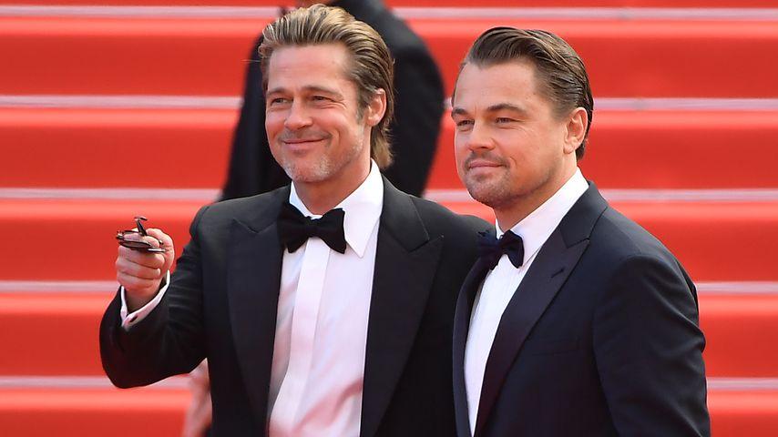 Brad Pitt und Leonardo DiCaprio bei einer Filmvorführung in Cannes