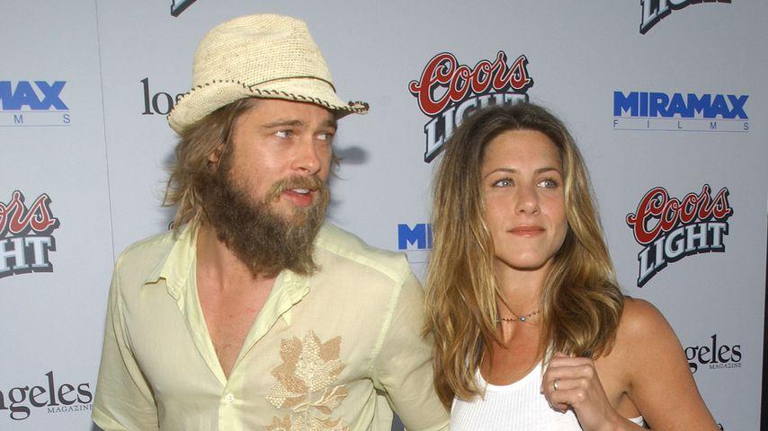 Brad Pitt und Jennifer Aniston im Juli 2002