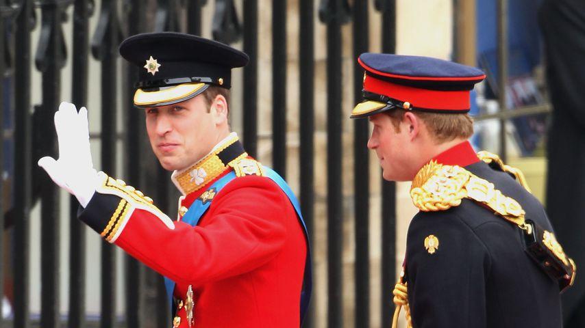 Bräutigam Prinz William und Trauzeuge Prinz Harry bei der royalen Hochzeit 2011