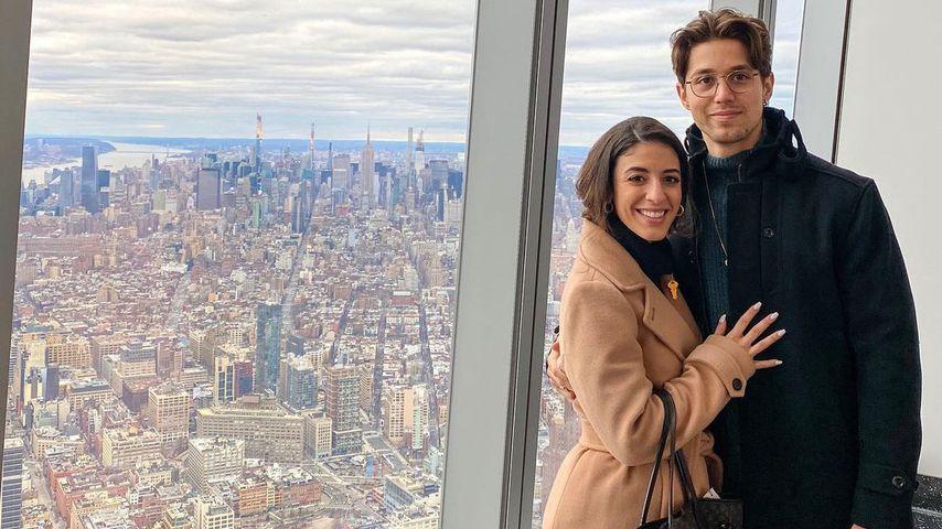 Brandon Larracuente mit seiner Frau Jazmin
