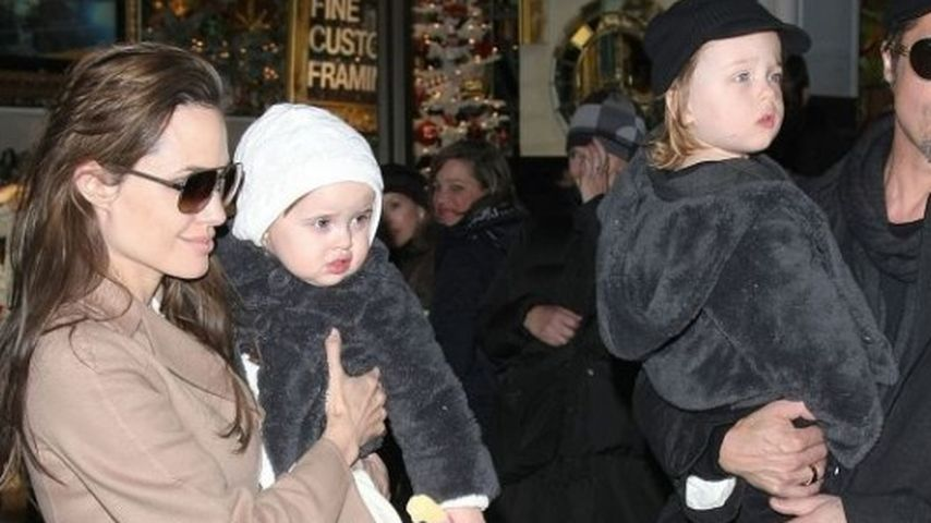 Angelina Jolie, Knox Jolie-Pitt, Brad Pitt und Vivienne Jolie-Pitt