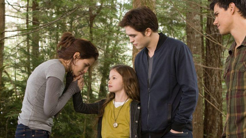 Kristen Stewart, Mackenzie Foy, Robert Pattinson und Taylor Lautner
