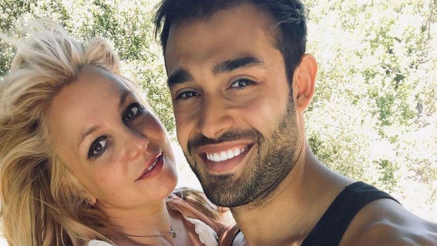 Britney Spears mit ihrem Partner Sam Asghari