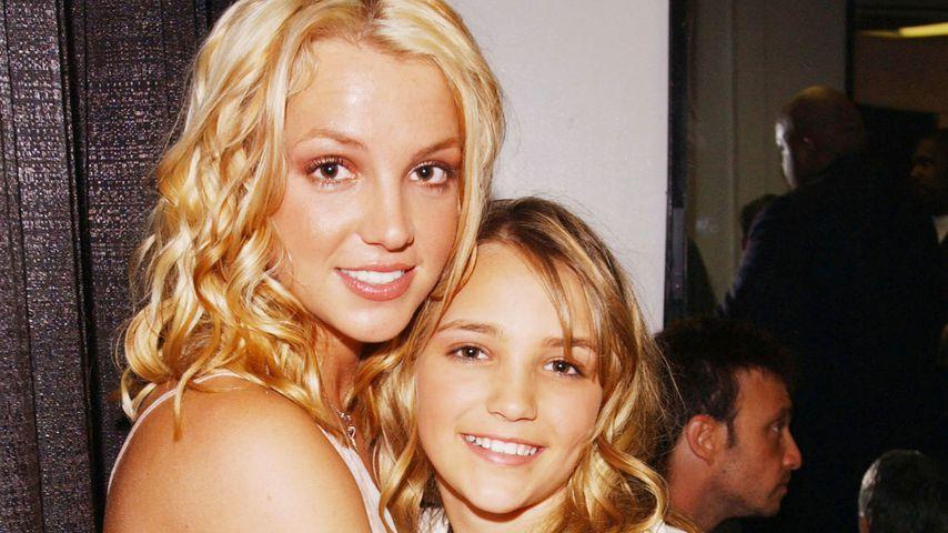 Britney und Jamie Lynn Spears im April 2003 in Santa Monica