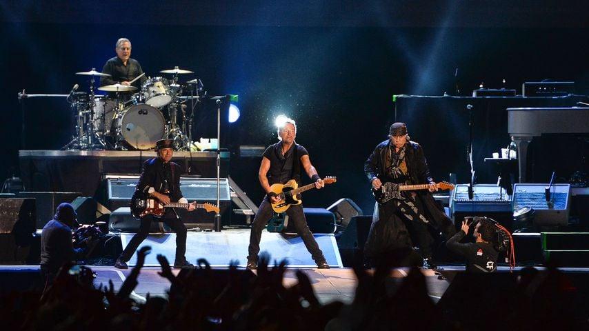 Bruce Springsteen bei einem Auftritt mit der E Street Band im Mai 2016