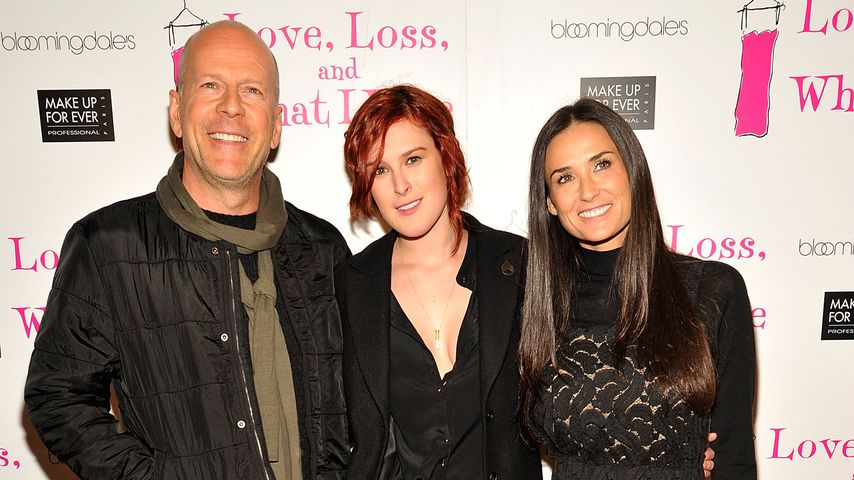 Bruce Willis, Rumer Willis und Demi Moore