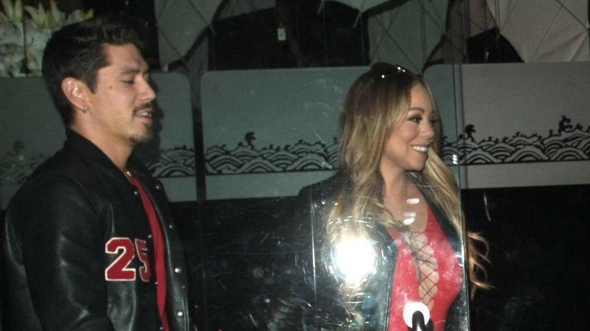 """Bryan Tanaka und Mariah Carey beim Verlassen des Restaurants """"Mr. Chow"""" in Beverly Hills"""