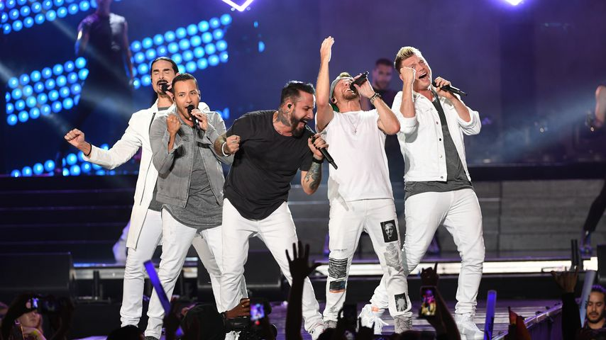 Die Backstreet Boys: Brian Littrell, Kevin Richardson, Nick Carter, A.J. McLean and Howie Dorough (v