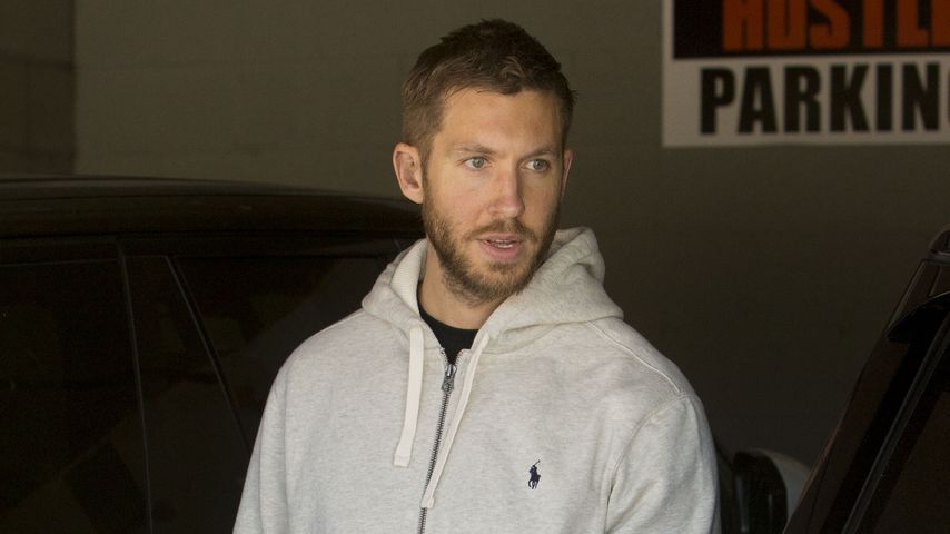Calvin Harris in einer Parkgarage in Los Angeles
