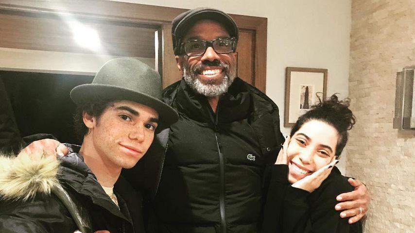 Cameron Boyce mit Vater Victor und Schwester Maya