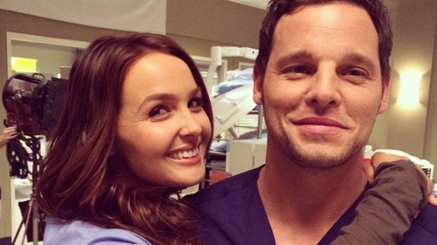 "Camilla Luddington und Justin Chambers am ""Grey's Anatomy""-Set"
