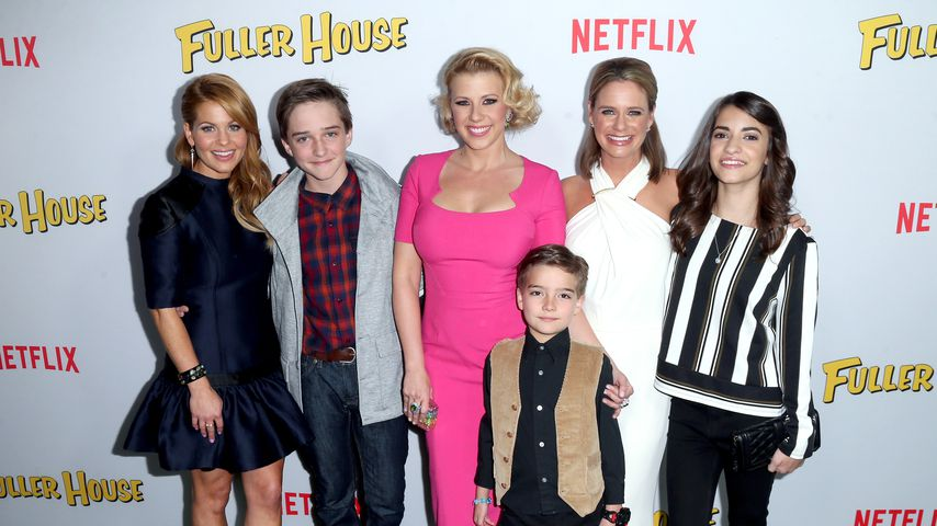 Candace Cameron-Bure, Michael Campion, Jodie Sweetin, Elias Harger, Andrea Barber und Soni Bringas