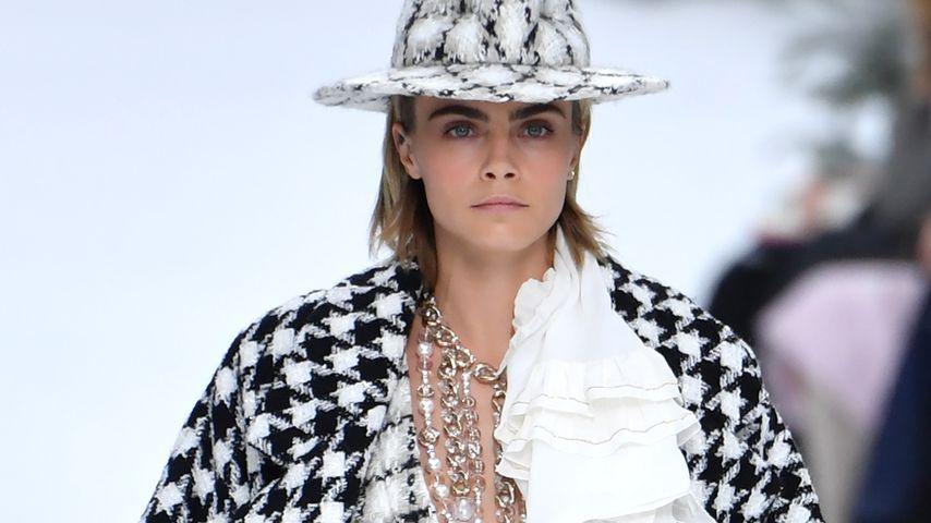 Model Cara Delevingne bei der Chanel-Fashionshow, März 2019