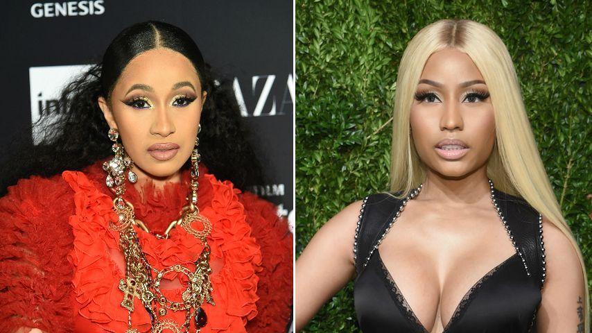 Rapperinnen-Fight: Cardi B wirft Schuh nach Nicki Minaj!