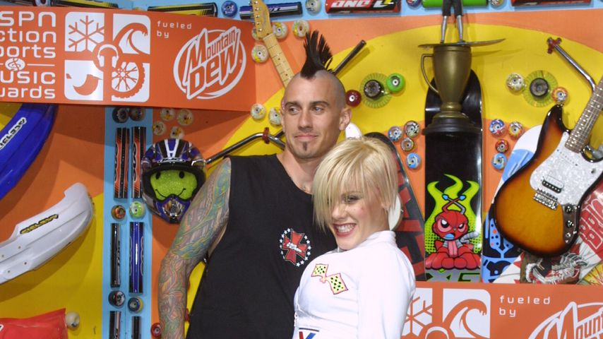 Carey Hart und Pink im April 2002
