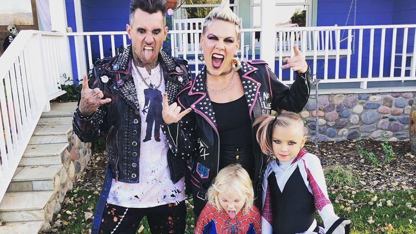 Carey Hart und Pink mit ihren Kids Jameson Moon und Willow Sage