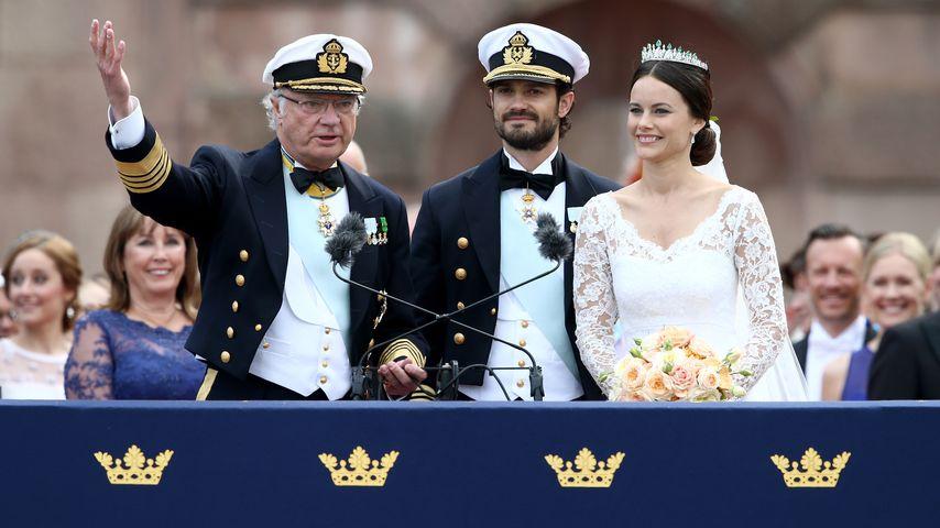 Carl Philip & Sofia: Hochzeit nur dank König Carl Gustaf