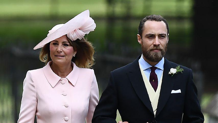 Carole Middleton und ihr Sohn James bei der Hochzeit ihrer Tochter Pippa, Mai 2017