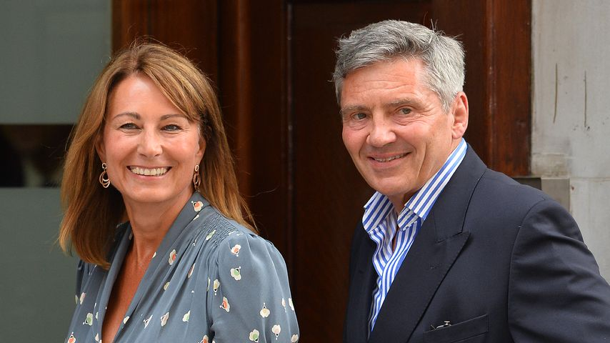 Carole und Michael Middleton vor dem St Mary's Hospital in London
