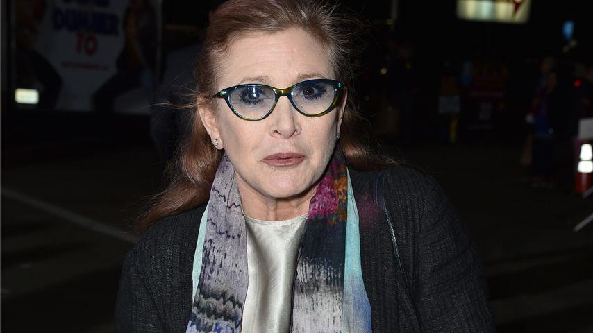 Carrie Fisher bei einer Premiere 2014