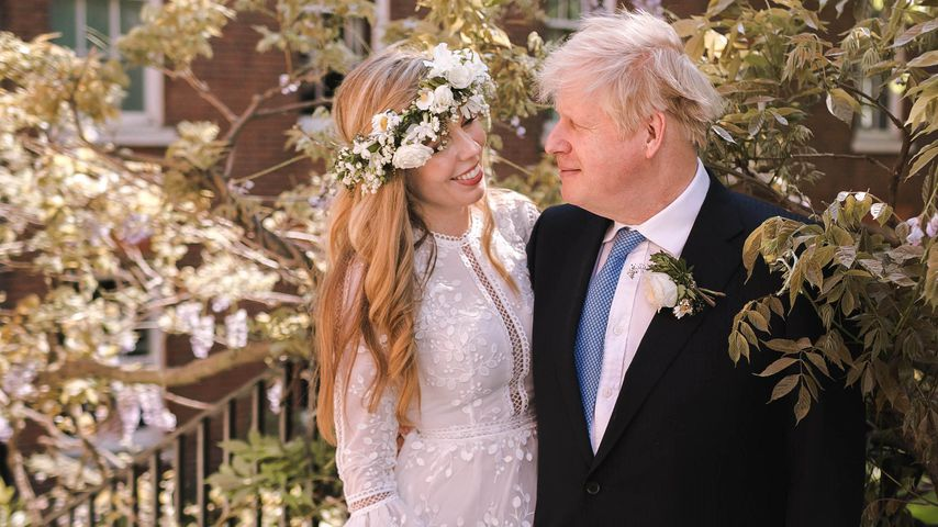 Carrie und Boris Johnson an ihrem Hochzeitstag im Mai 2021