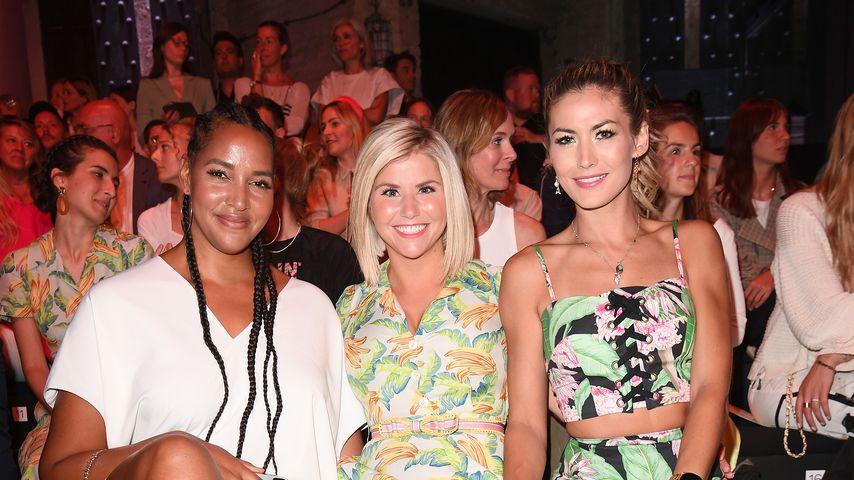 Cassandra Steen, Beatrice Egli und Fiona Erdmann im Juli 2019 bei der Berliner Fashion Week